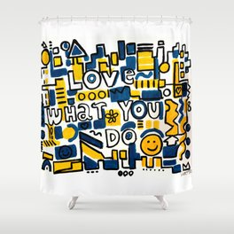 Fun LOVE and colorful art BED COMFORTER or Shower Curtain Shower Curtain