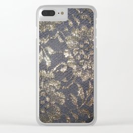 Black Lace Clear iPhone Case