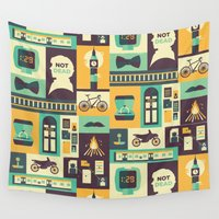 risa rodil Wall Tapestries featuring Empty Hearse by Risa Rodil