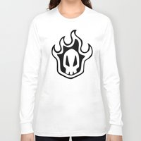 bleach Long Sleeve T-shirts featuring Bleach Skull by Prince Of Darkness