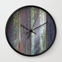 giants Wall Clocks featuring Future Giants by Mark Alder