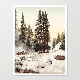 A snowy scene Canvas Print