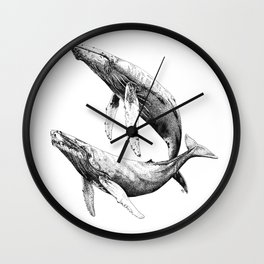 Humpback Whales Wall Clock