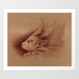 Leaf Man Art Print