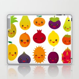 kawaii fruit Pear Mangosteen tangerine pineapple papaya persimmon pomegranate lime Laptop & iPad Skin