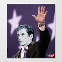 american psycho Canvas Prints featuring American Psycho by Marko Köppe