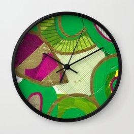 absract green Wall Clock