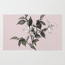PINK ENCYCLIA ORCHID Rug