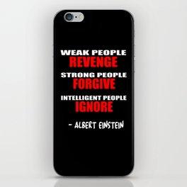 weak people iPhone Skin