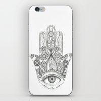 hamsa iPhone & iPod Skins featuring Hamsa by Erzaguri