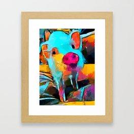 Mini Pig Framed Art Print