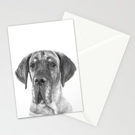 Black and White Great Dane Stationery Cards