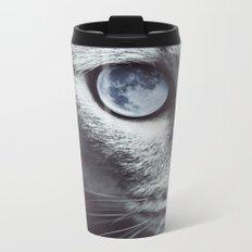 Moon cat Metal Travel Mug