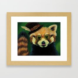 Steampunk Red Panda Framed Art Print