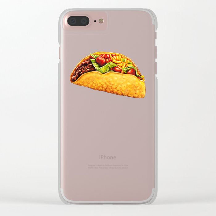 Taco Pattern Clear iPhone Case
