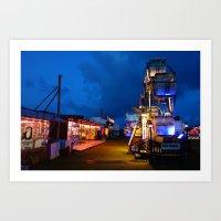 Twilight at the carnival Art Print