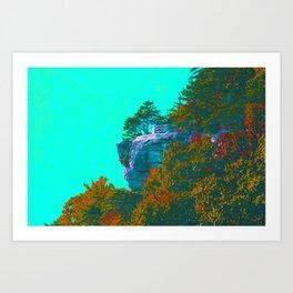 Breaks Cliffside Art Print