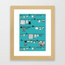 Laundry Doodle Framed Art Print