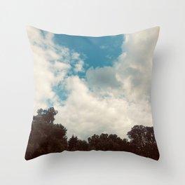 Aesthetic Blue Sky  Throw Pillow