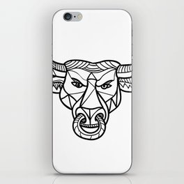 Texas Longhorn Bull Head Mosaic iPhone Skin
