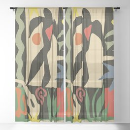 Inspired to Matisse (vintage) Sheer Curtain