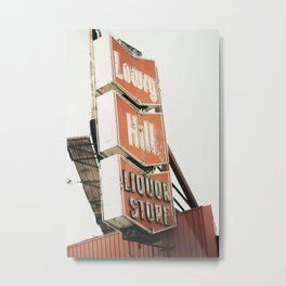 Liquor store sign Metal Print