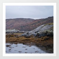 scotland Art Prints featuring Scotland by TH Yü