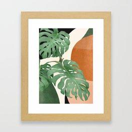 Tropical Leaves- Abstract Art  Framed Art Print