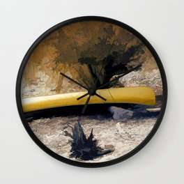 """Canoe Beach"" Wall Clock"