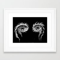 tool Framed Art Prints featuring Tool eyes by SnowVampire