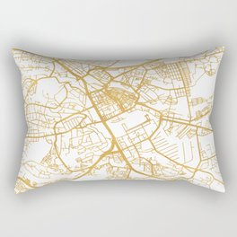 NAIROBI KENYA CITY STREET MAP ART Rectangular Pillow