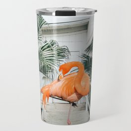 Flamingo Beach House #photography #digitalart Travel Mug