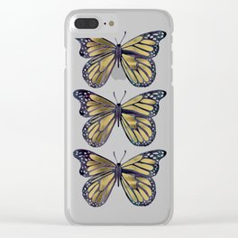 Gold Butterfly Clear iPhone Case