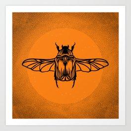 Sunset Dust Beetle Art Print