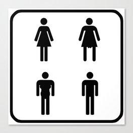 gender neutral restroom sign Canvas Print