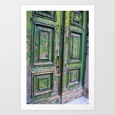 Green Door 3 Art Print
