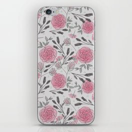 Soft and Sketchy Peonies iPhone Skin