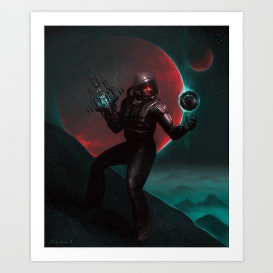Astroman! Art Print