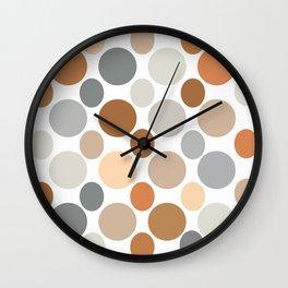 Earth Tone Circlular Abstract Wall Clock