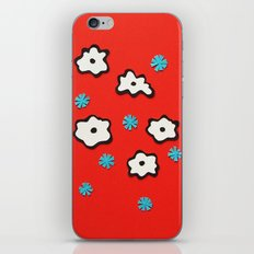 Dutch Flowers on Red iPhone & iPod Skin