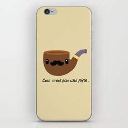 This is not a pipe. iPhone Skin
