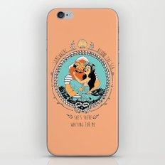 Mermaid and Fisherman iPhone & iPod Skin