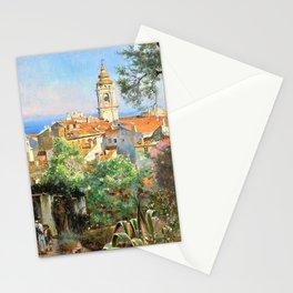 William Logsdail - Near Menton - Digital Remastered Edition Stationery Cards