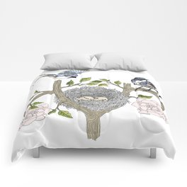 birds family Comforters