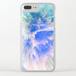 """""""Unbreakable Spirit"""" Abstract Design Clear iPhone Case"""