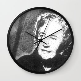 Agatha Christie Wall Clock