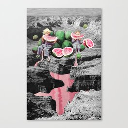 Watermelon Watermarks Canvas Print
