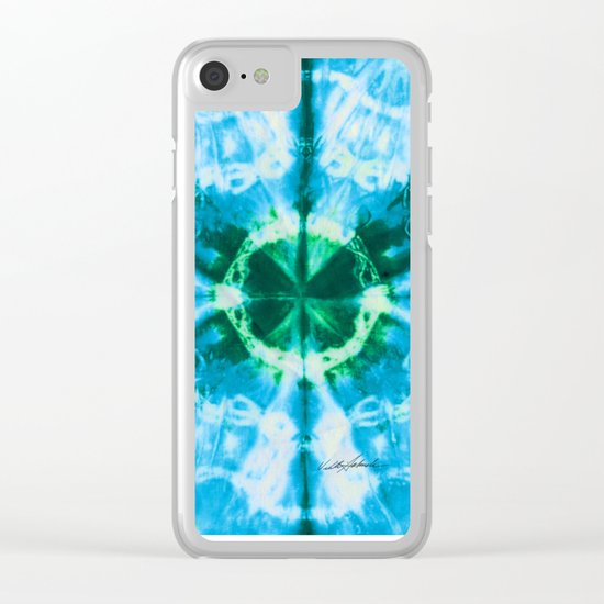 Boho Blue Bloom Clear iPhone Case