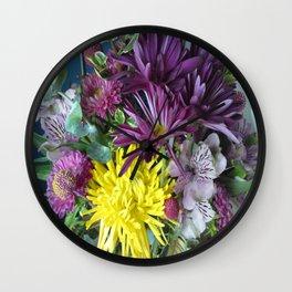 Mixed Flower 2 Wall Clock