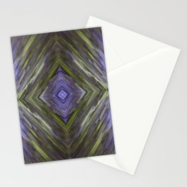 Claret and Moss Waves Stationery Cards